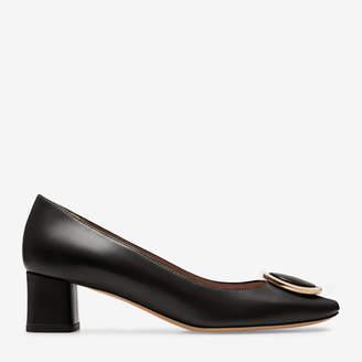 Bally Deisy Black, Women's plain goat leather pump with 45mm heel in black