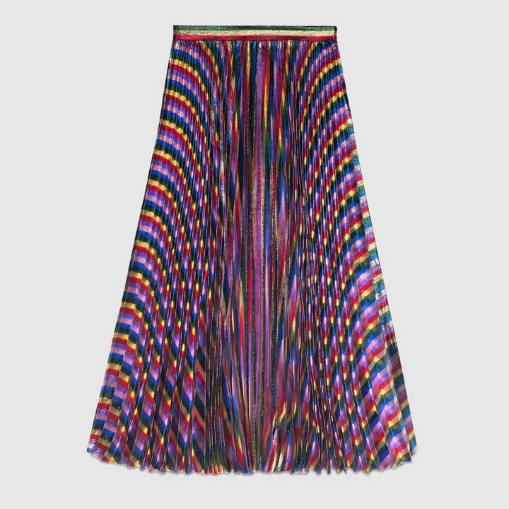 Iridescent pleated skirt 2