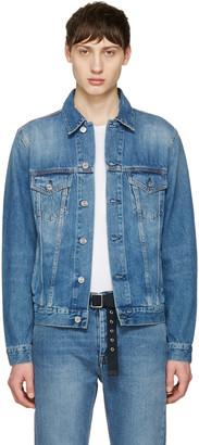 Acne Studios Blue Denim Beat Jacket $400 thestylecure.com