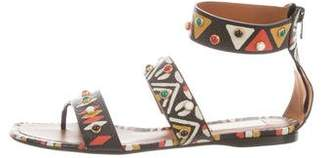 Valentino Printed Studded Sandals w/ Tags