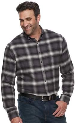 Croft & Barrow Big & Tall Regular-Fit Flannel Woven Button-Down Shirt