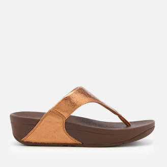 8a0c78ab775b FitFlop Women s Lulu Molten Metal Toe Post Sandals