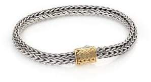 John Hardy 18K Gold Accented Sterling Silver Chain Bracelet