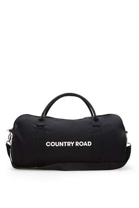 Country Road Zip Canvas Logo Tote