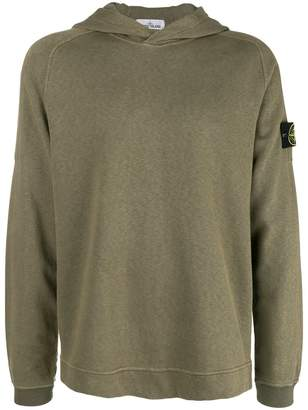 Stone Island long-sleeve hooded sweater