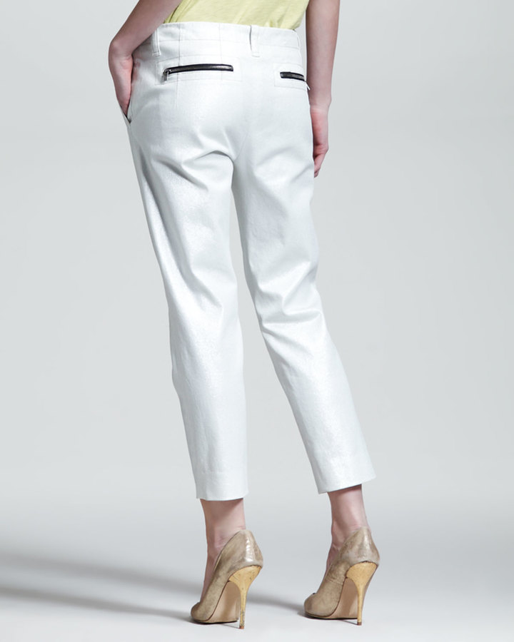 Kelly Wearstler Spyglass Cropped Twill Pants