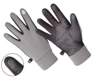 HANDS ONTM AL1402, Ladies Multi-Purpose Athletic Glove, Touch Screen Compatible, GREY/BLACK (One Size Fits Most)