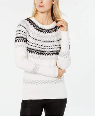 Tommy Hilfiger Sequined Fair Isle Sweater
