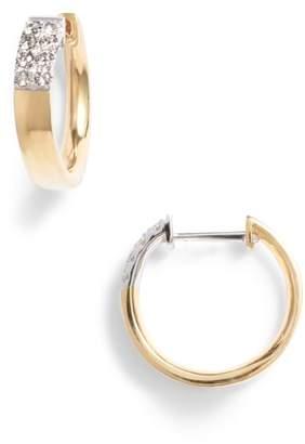Bony Levy Kiera Small Diamond Hoop Earrings