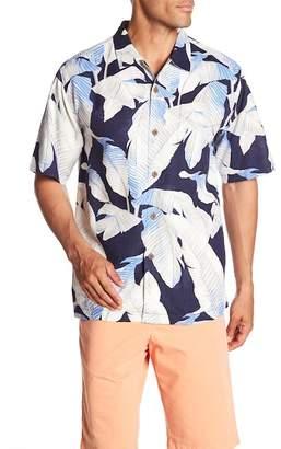 Tommy Bahama Cascara Fronds Short Sleeve Original Fit Silk Shirt