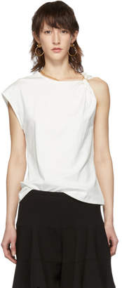 Chloé White One-Shoulder T-Shirt