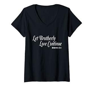 Womens Let brotherly love continue Shirt - Men Women Kids T-shirt V-Neck T-Shirt