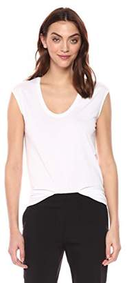 Theory Women's Short Sleeve Madya Scoop Neck Tee