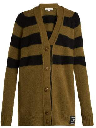 Proenza Schouler Pswl - Striped Cardigan - Womens - Black Green