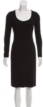 Akris Punto Long Sleeve Knee-Length Dress
