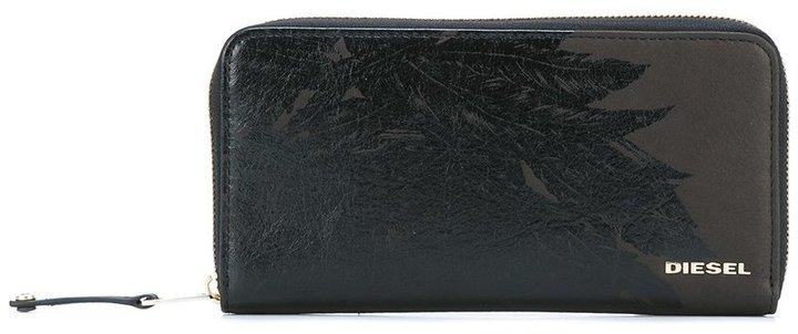 DieselDiesel feather print zipped wallet