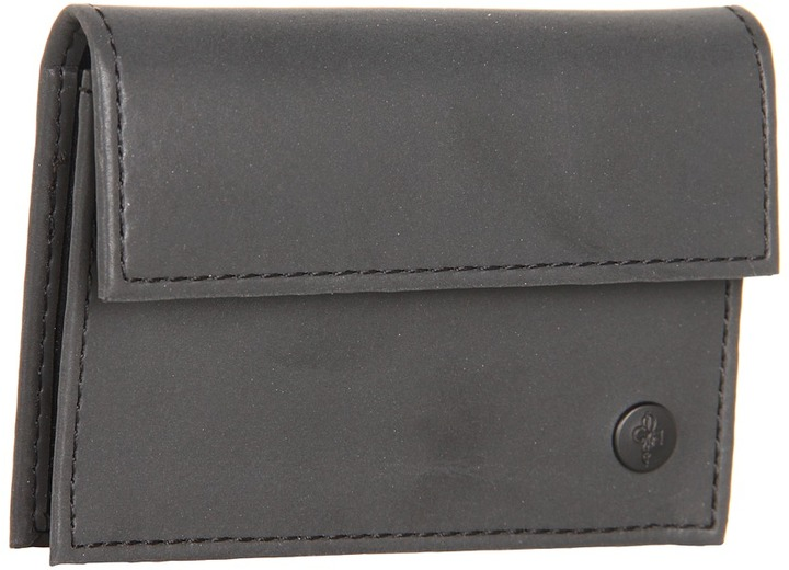 Cole Haan Snap Card Case (Black/Woodbury) - Bags and Luggage