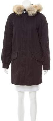 Marc by Marc Jacobs Fur-Trimmed Short Coat