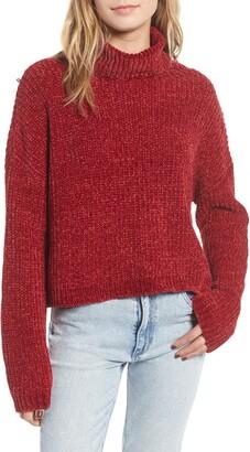 Blank NYC Blanknyc Chenille Turtleneck Sweater