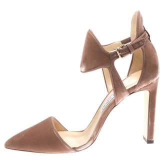 Jimmy Choo Pink Velvet Heels