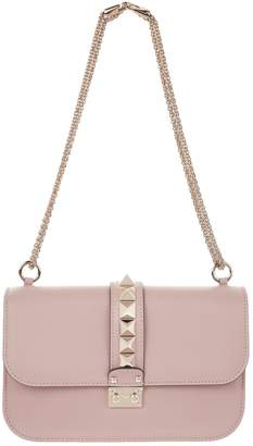 Valentino Medium Leather Rockstud Lock Bag