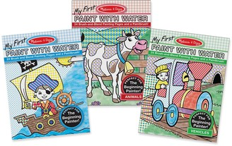 Melissa & Doug Animals, Vehicles & Multi-Themed My First Paint With Water Bundle