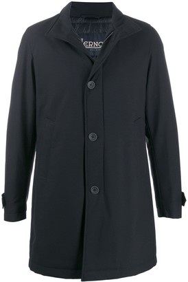 Herno single-breasted stand collar coat