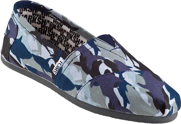 Toms Classic Slip-on Shark Camo Fabric