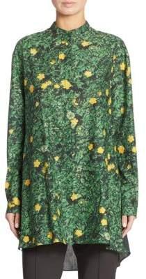 Akris Buttercup Print Cotton Tunic