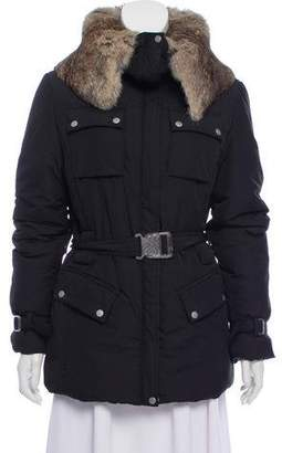 Gianfranco Ferre Fur Trim Puffer Jacket