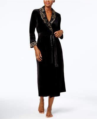 Thalia Sodi Velour Lace-Trim Robe