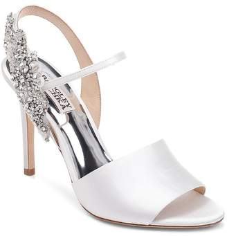 Badgley Mischka Women's Lidia Embellished High-Heel Slingback Sandals