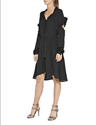 Replay Women's W9550a.000.83350 Dress, (Black 98)