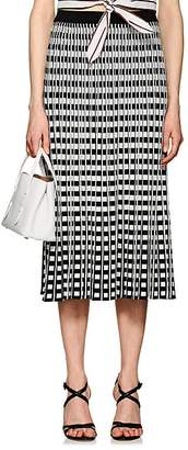 Derek Lam 10 Crosby Women's Checkerboard Pleated Midi-Skirt