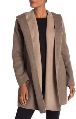 Vince Open Front Hooded Coat