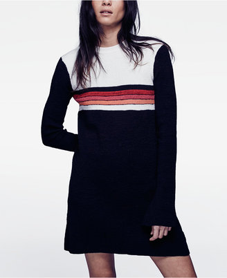 Free People Colorblocked Sweater Dress $148 thestylecure.com