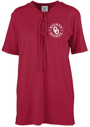 Royce Apparel Inc Women's Oklahoma Sooners Lace Up T-Shirt