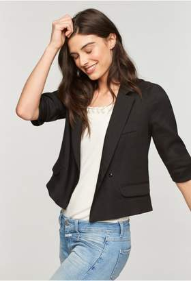 Milly Italian Stretch Viscose Cropped Blazer