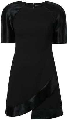 David Koma contrast sleeve dress