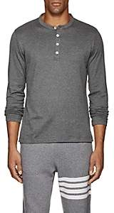 Eleventy Men's Cotton Long-Sleeve Henley - Gray