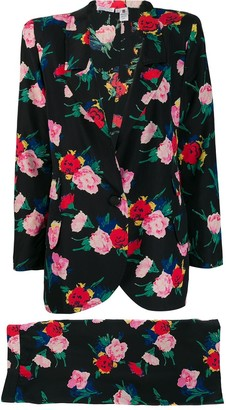 Ungaro Pre-Owned 1980's floral skirt suit
