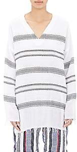 Lemlem Women's Dobby-Striped Gauze Tunic - White