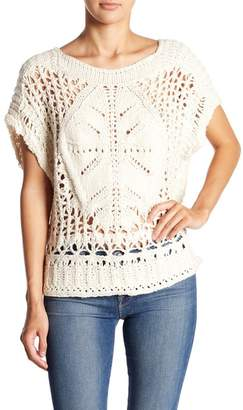 Free People Short Sleeve Sweater Top