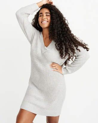 Abercrombie & Fitch V-Neck Sweater Dress