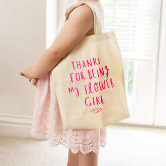 Ellie Ellie Thank You For Being My Flower Girl Mini Tote Bag