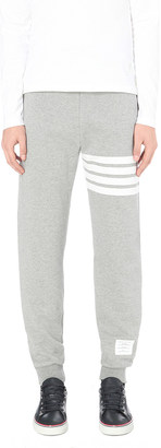 THOM BROWNE Striped cotton-jersey jogging bottoms $495 thestylecure.com
