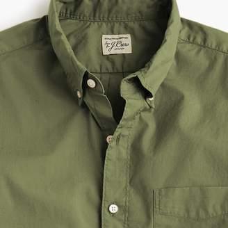 J.Crew Short-sleeve stretch garment-dyed Secret Wash shirt