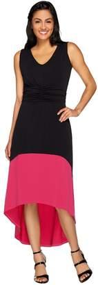 Kelly By Clinton Kelly Kelly by Clinton Kelly Petite Hi-Low Hem Color Block Dress