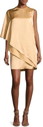 Ralph Lauren Collection Kayla Draped One-Shoulder Dress, Sand