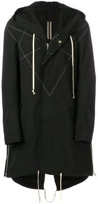 Rick Owens oversized hooded coat